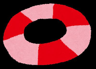 海のイラスト「うきわ」