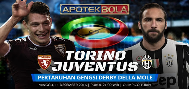 Prediksi Pertandingan Torino vs Juventus 11 Desember 2016