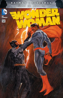 Apres la première fournée de variant covers mettant en avant Batman v Superman (on vous en avait parlé ici ^^) DC comics nous présente les variant covers de Batman #50, Superman/Wonder woman #27, Grayson #18 et de Wonder Woman #50.  Batman #50:    Batman #50 par Chris Daughtry et Jim Lee        Superman/Wonder Woman #27:    Superman/Wonder Woman par charlie Adlard        Grayson #18:    Grayson #18 par Stephen Platt        Wonder Woman #50:    Wonder Woman #50 par Massimo Carneval
