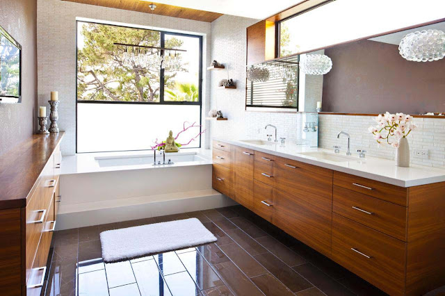 Beautiful Mid Century Modern Bathroom Vanity Ideas Induce Find Mid Century Modern Bathroom Peace Space Great Lounge Kitchen Please Check Out Style Room Image Enlarge Floral Images
