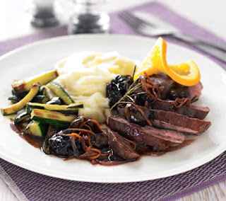 duck with chestnuts and prunes recipe