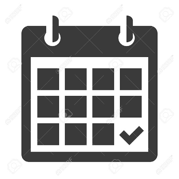 Calendar Icon Flat Black Calendar Icon Isolated On White