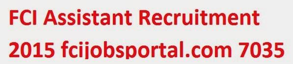 FCI Assistant Recruitment 2015 image
