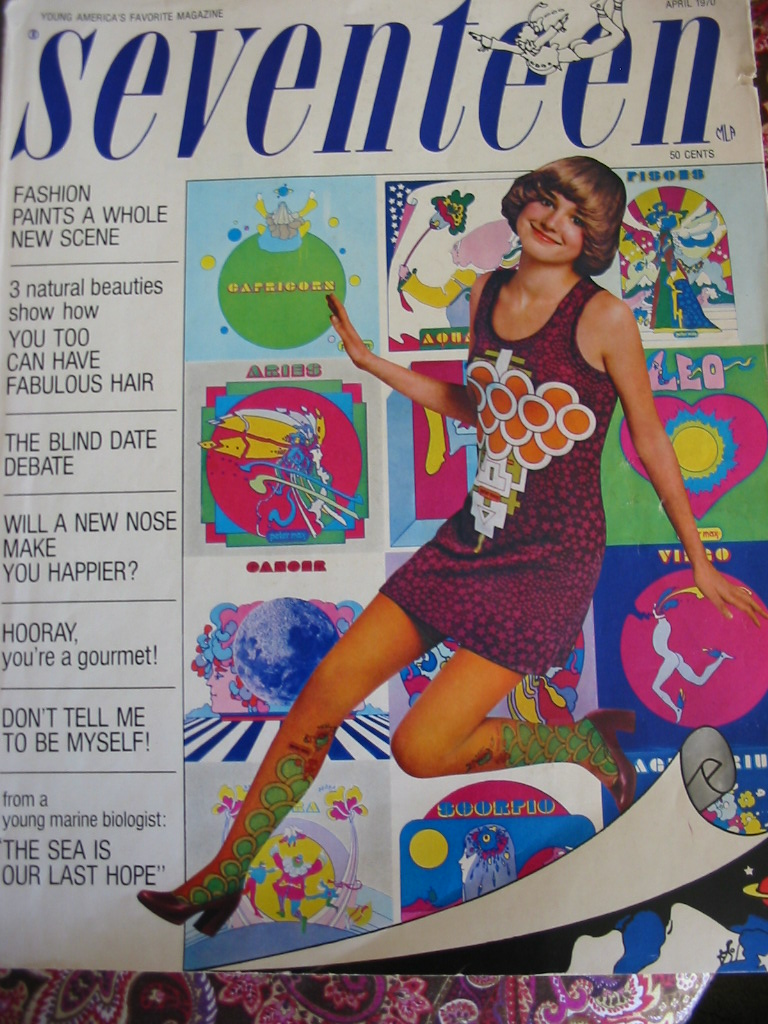 1970s Seventeen Magazine It S That Bohemian Things Again: Gold Country Girls: Seventeen Magazine: The Peter Max Edition