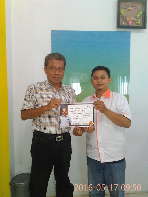 Team Lazismu Jember, Kamiludin bersama Kholid Ashari, SE owner Senyum Media