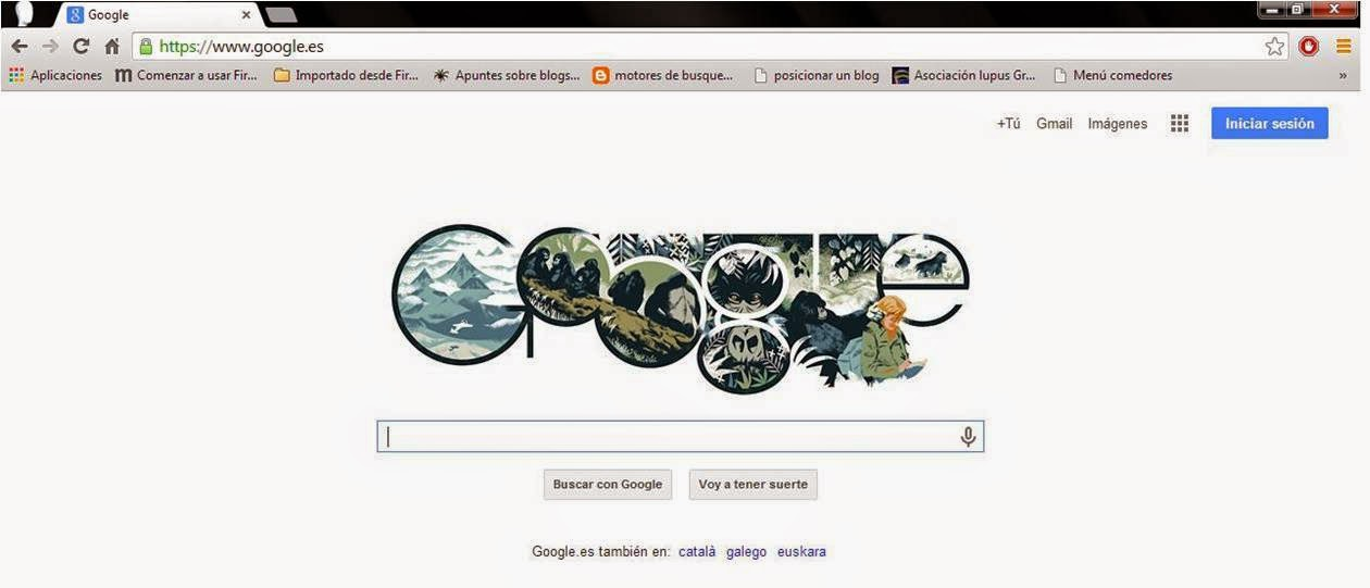 página de inicio google chrome