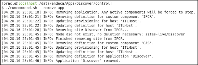 Endeca Application --remove-app