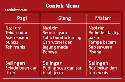 Contoh menu penderita hepatitis