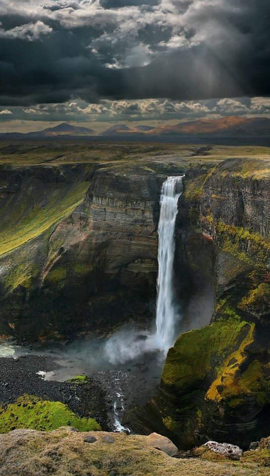 majestic haifoss waterfall in iceland a1 pictures