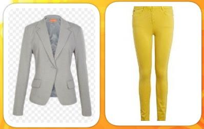 gri-blazer-ceket-sari-renk-skinny-pantolon-bayan-kombini