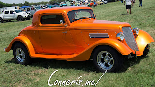 Orange Ford Coupe Hot Rod Side