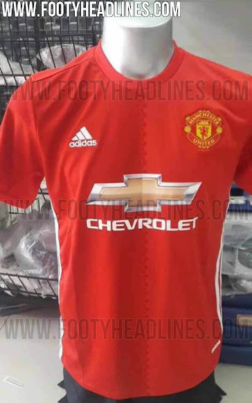 0130ab3d240 Leaked  Two new pictures of Man United s home kit for 2016-17