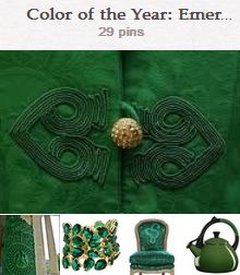 Avente's Pinterest pinboard celebrating Pantone's Color of the Year, Emerald.