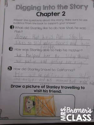 Our class loves Flat Stanley! Here are some activities we did in second grade as we completed a book study about Flat Stanley in his original adventure.