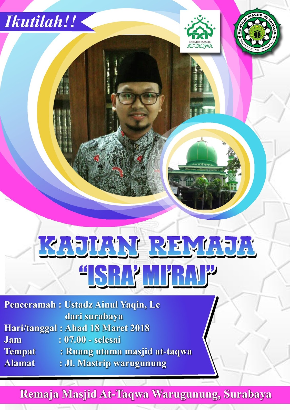 Kajian Remaja Masjid At Taqwa Warugunung Karangpilang Surabaya