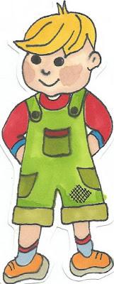 rysunek szkic chłopiec