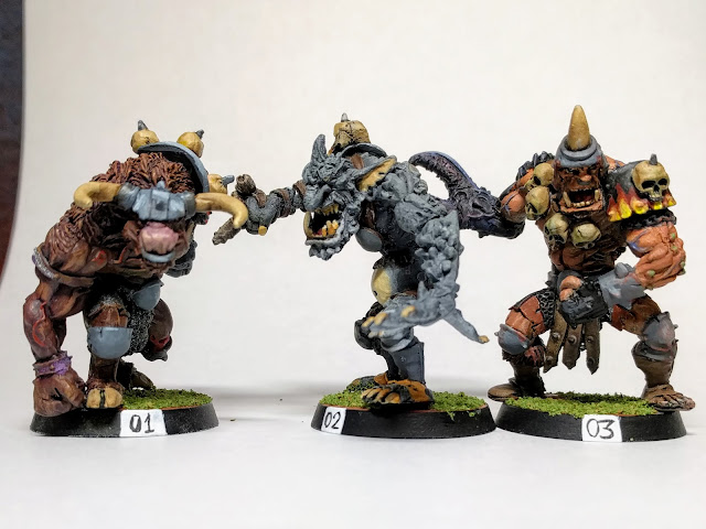 Minotaur, Troll and Ogre