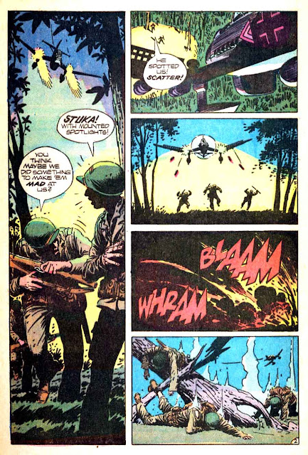 Weird War Tales v1 #7 dc bronze age comic book page art by Joe Kubert