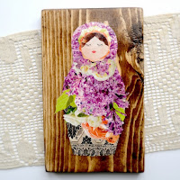 Matryoshka Plaque by Over The Apple Tree