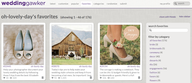 10 Websites to Help You Plan Your Wedding from Oh Lovely Day: weddinggawker