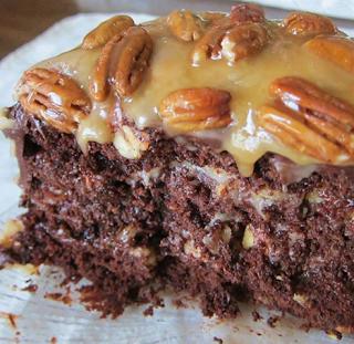Easy Homemade Chocolate Turtle Cake