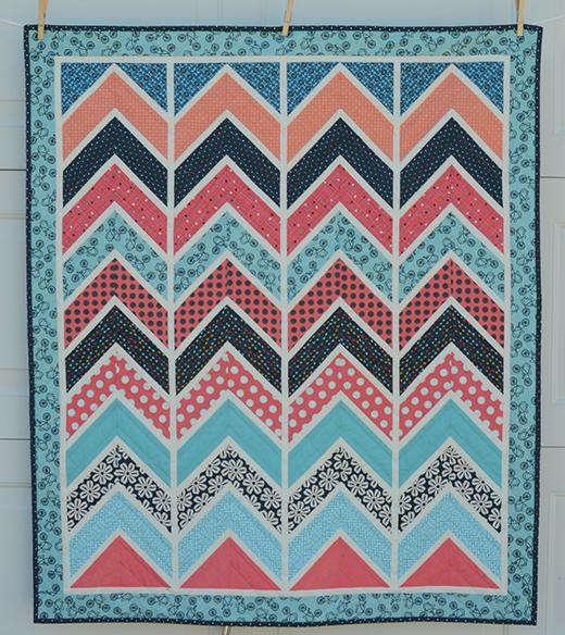 Chevron Quilt Free Tutorial Designed by Hyacinth of Hyacinth Quilt Designs