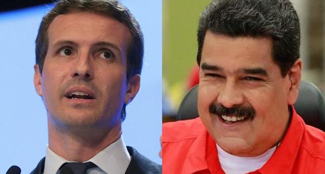 Ridículo espantoso de Pablo Casado pillado mintiendo sobre Nicolás Maduro