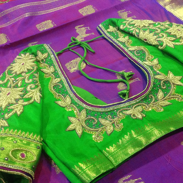 fc0942c7cf6d48 Amazing Wedding saree blouse designs   patterns