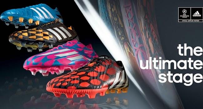 sale retailer 6c0eb 44d77 Predator, Adizero, Nitrocharge y AdiPure son los cuatro modelos de botines  que componen el flamante Tribal Pack 2014 15 de adidas con la UEFA  Champions ...