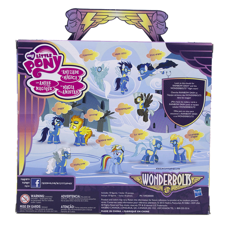 wonderbolts cloudsdale mini collection found new target exclusive