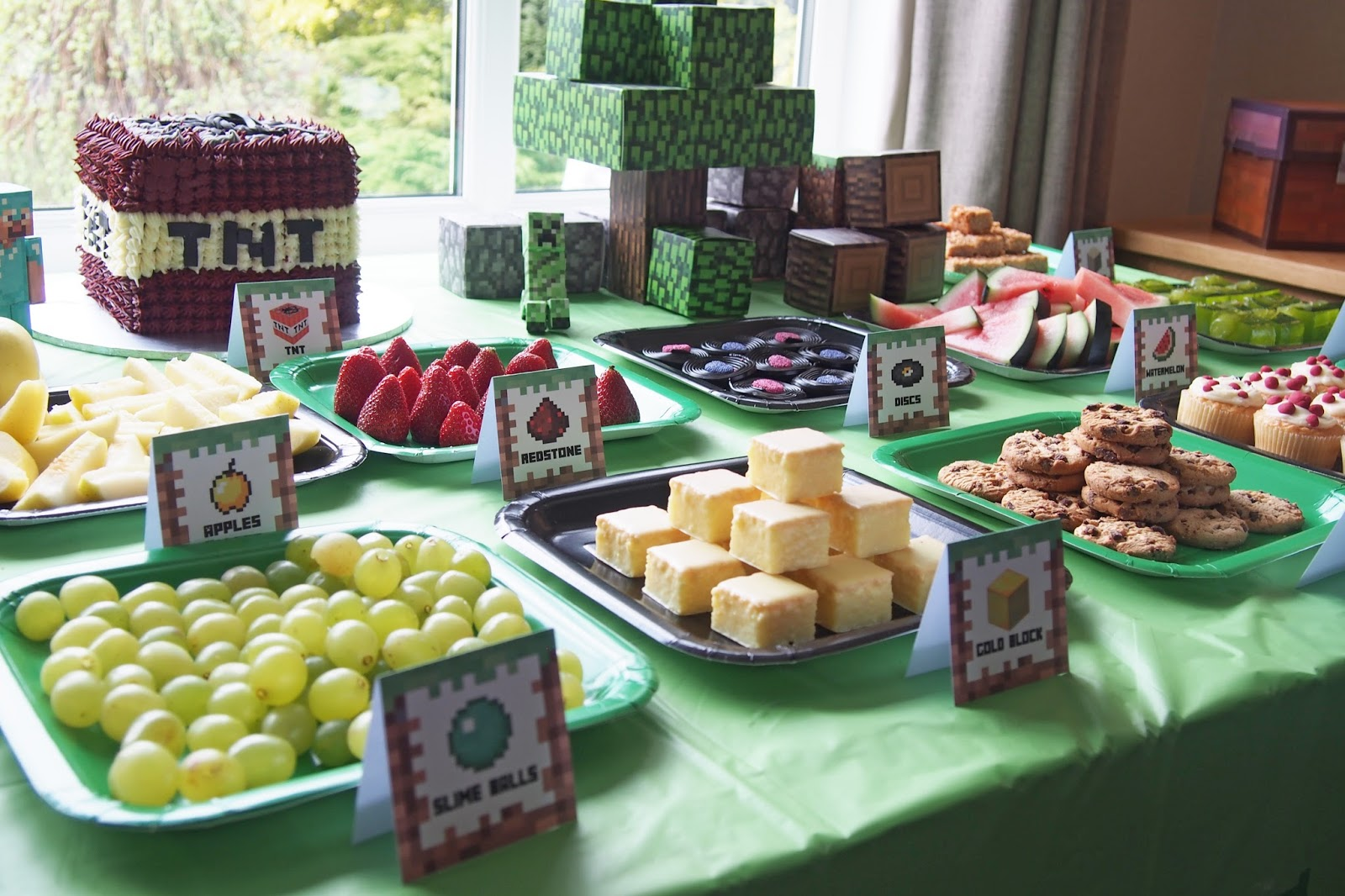 This is a photo of Unusual Minecraft Birthday Food Labels