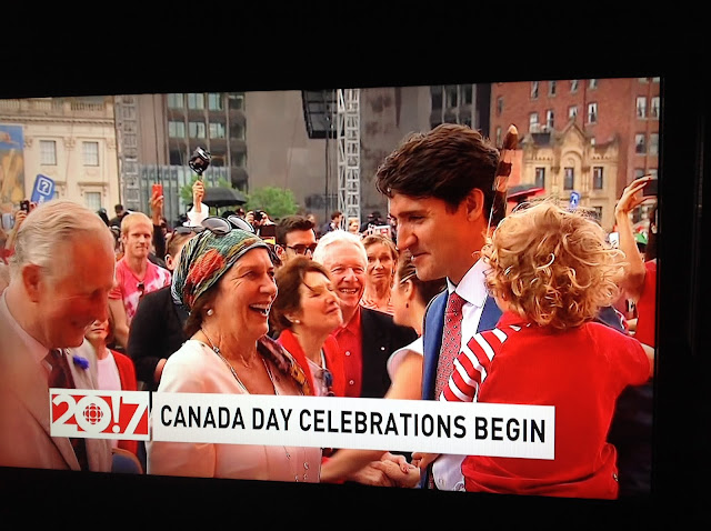 Screenshot CBC coverage Canada 150, Ottawa - Margaret Trudeau proud of her son Justin