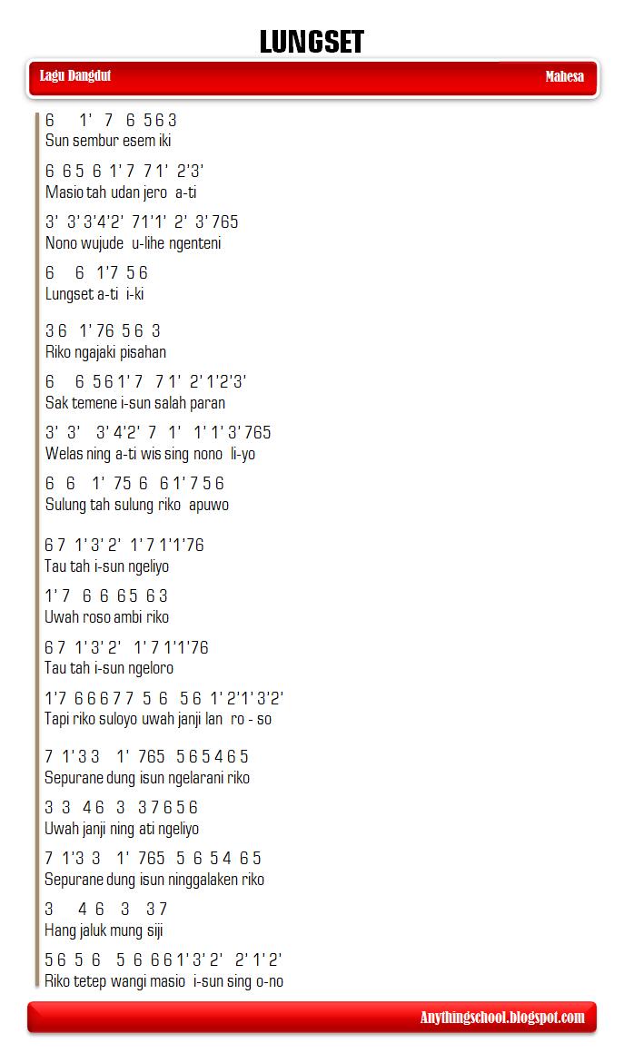 Lirik Dan Terjemahan Lagu Lungset (Dan Artinya)