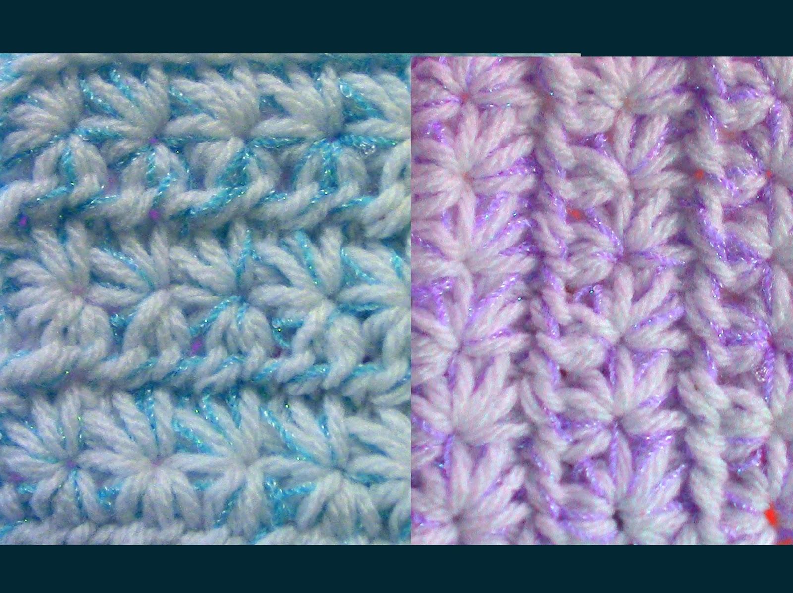 Único Crochet Forma De Estrella Friso - Manta de Tejer Patrón de ...
