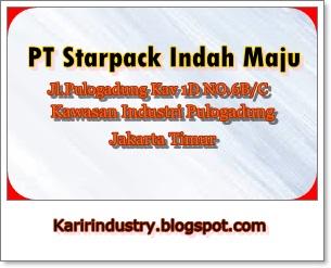 Lowongan Kerja Jakarta PT Starpack Indah maju