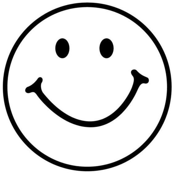 Line Drawing Happy Face : Emoji com moldes como fazer