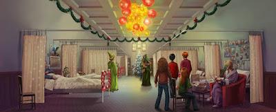 Da HP e l'Ordine della Fenice: Neville e sua nonna Augusta incontrano Harry e gli altri nel reparto del San Mungo dove sono ricoverati Frank e Alice, e il professor Allock
