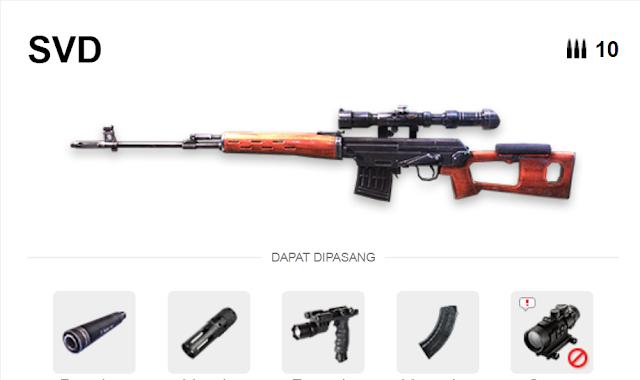 Review Senjata SVD Dragunov Garena Free Fire Auto Anjay Lah 4