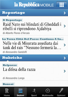 La Repubblica Mobile per iPhone e iPad.