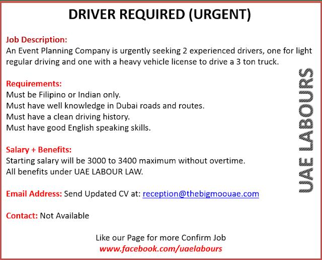 Driving Vacancies in Dubai