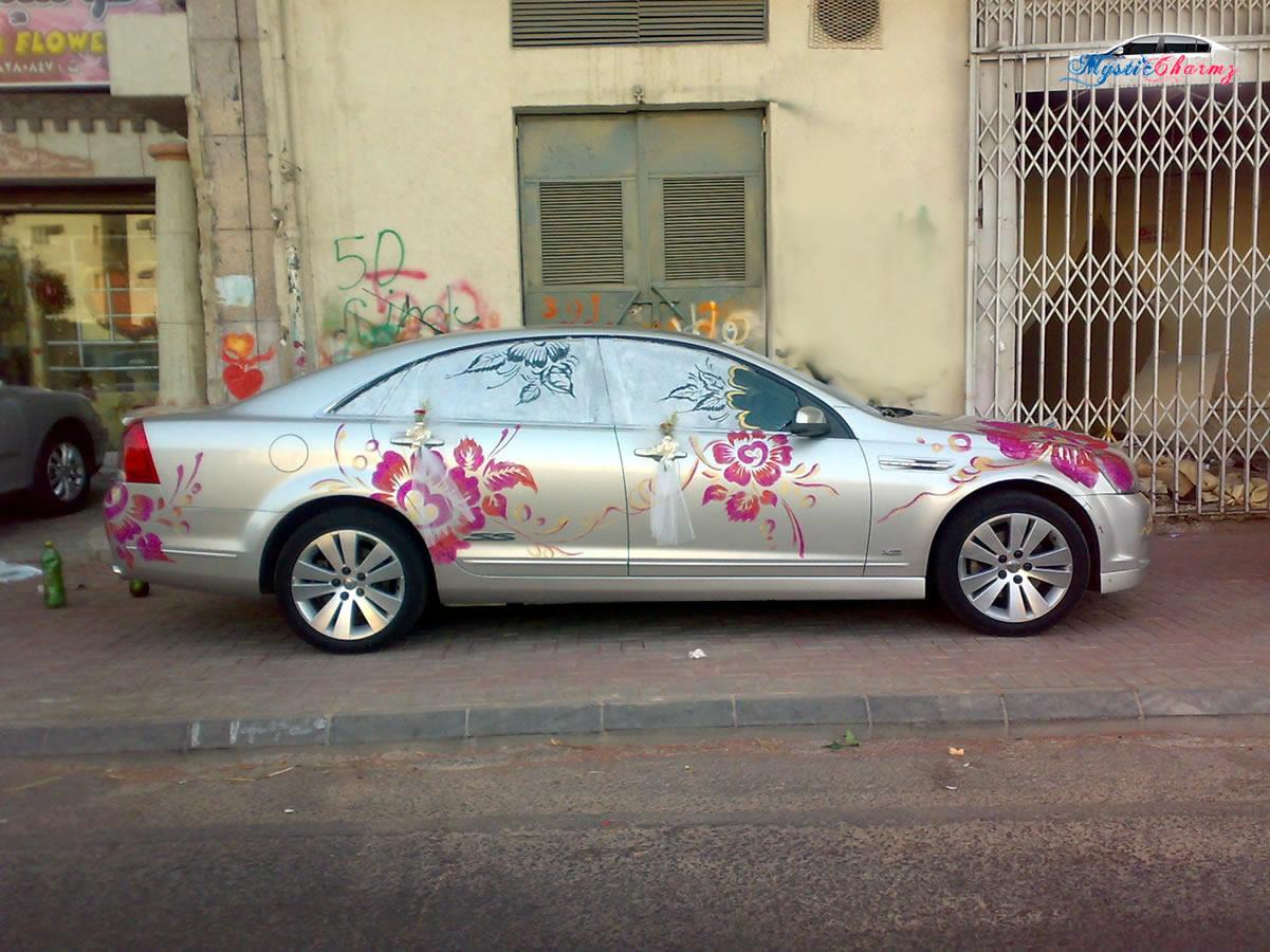Car Decoration Ideas For Wedding تزئین ماشین عروس ساده و کلیدهای