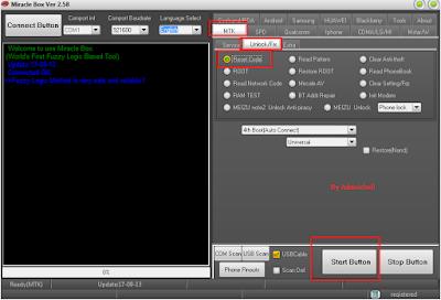 Oppo A83 (CPH1729) Pattern Unlock Via Miracle