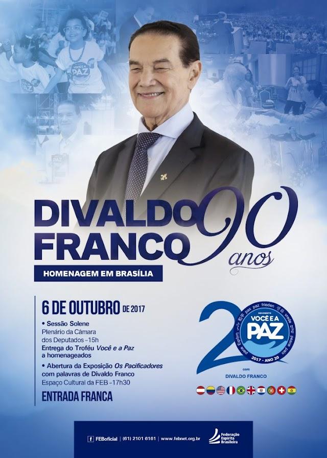 Brasília celebra os 90 anos de Divaldo Franco