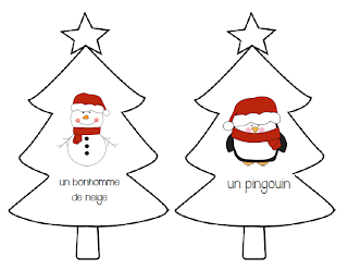 French reading game: Le lutin sous l'arbre de Noël