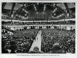 An Indoor Nazi Party Rally