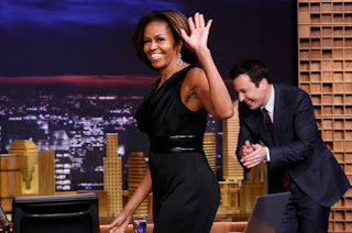 Stevie Wonder, Michelle Obama Tonight Show