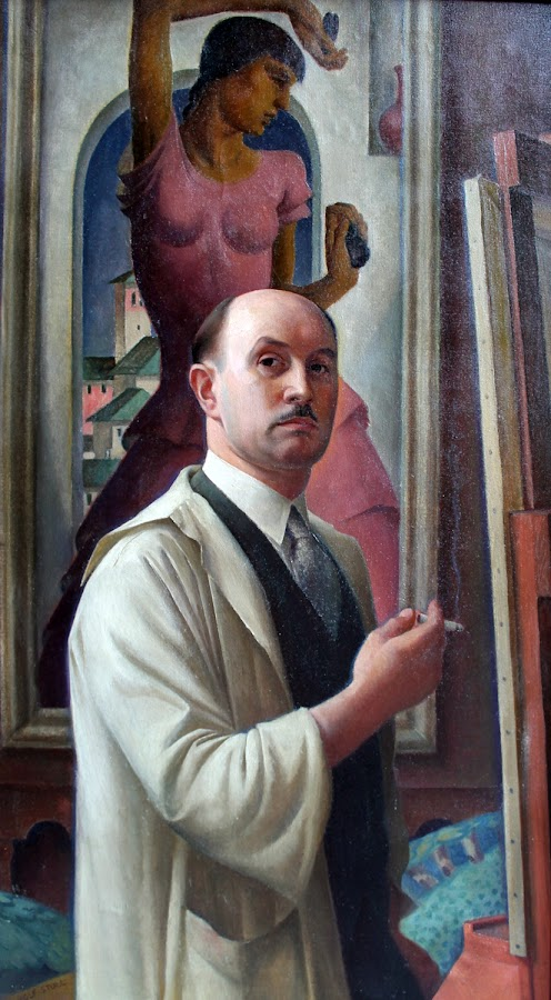 Rolf Stoll, Self Portrait, Portraits of Painters, Fine arts, Portraits of painters blog, Paintings of Rolf Stoll, Painter Rolf Stoll