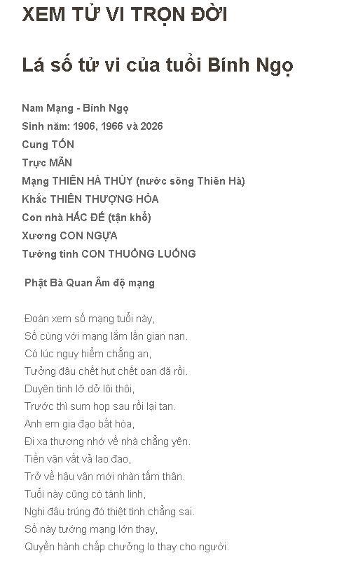 Tu Vi Tron Doi Binh Ngo 1966