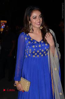 Telugu Actress Tejaswi Madivada Pos in Blue Long Dress at Nanna Nenu Na Boyfriends Audio Launch  0029.JPG