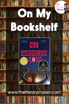 All American Boys by Jason Reynolds and Brendan Kiely tells the story of the racial tensions that divide a town after the black teen is severely beaten by a white cop who mistakes him for a shoplifter. Narration alternates between Rashad, the black teen, and Quinn, one of his white classmates, who witnesses part of the incident and is a family friend of the police officer. Read on for more of my review and ideas for classroom application.